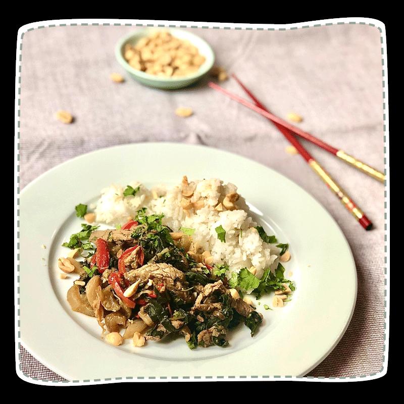 Pakchoi-Tofu-Pfanne